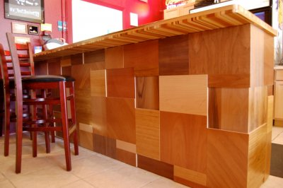 reharvestedwood bar at Island seafood.JPG